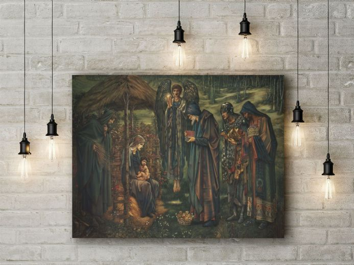 Edward Burne-Jones: The Star of Bethlehem. Fine Art Canvas.